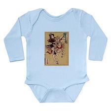 Hangaku Female Warrior Long Sleeve Infant Bodysuit