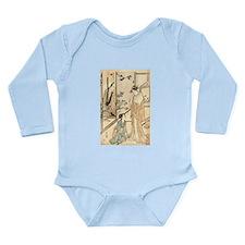 Japanese Ukiyo-e Print Long Sleeve Infant Bodysuit