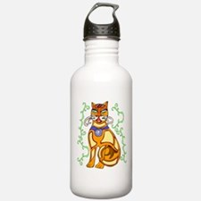 Abstract Cat Water Bottle