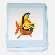 Scuba Fish baby blanket