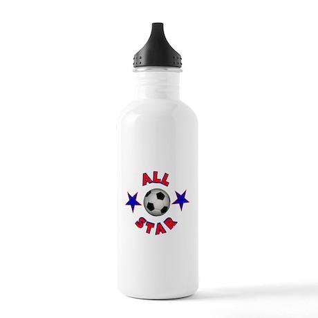 Soccer All Star Stainless Water Bottle 1.0L