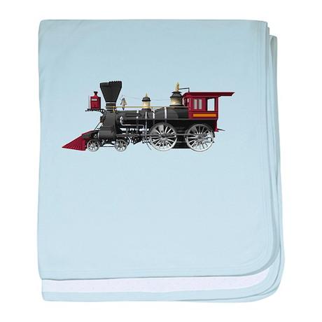 Locomotive baby blanket