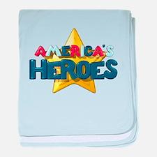 America's Heroes baby blanket