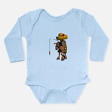 Donkey Travel Long Sleeve Infant Bodysuit