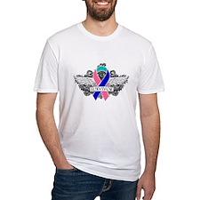 Survivor Wings Thyroid Cancer Shirt