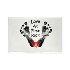 Love At First Kick Rectangle Magnet