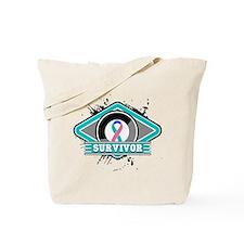 Thyroid Cancer Survivor Ribbo Tote Bag