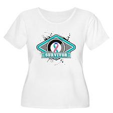 Thyroid Cancer Survivor Ribbo T-Shirt