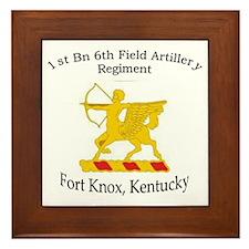 1st Bn 6th Artillery Framed Tile