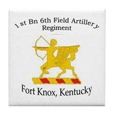 1st Bn 6th Artillery Tile Coaster