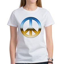 Blue and Gold Peace Sign Tee