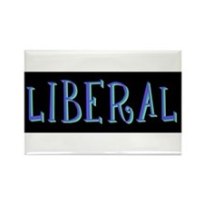 Liberal (blue) Rectangle Magnet