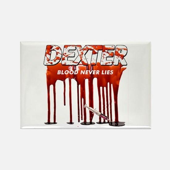Dexter ShowTime blood never l Rectangle Magnet
