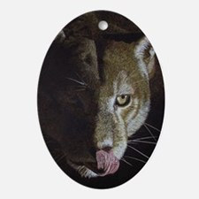 Cougar Night Oval Ornament