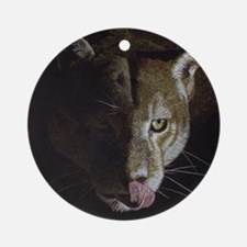 Cougar Night Ornament (Round)