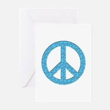 Puzzle Piece Peace Sign Greeting Cards (Package of