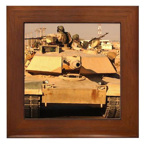 M1A1 Abrams MBT patrol route Framed Tile