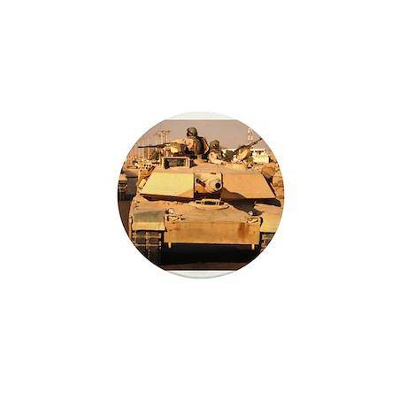 M1A1 Abrams MBT patrol route Mini Button