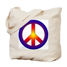 Cool Peace Sign Tote Bag