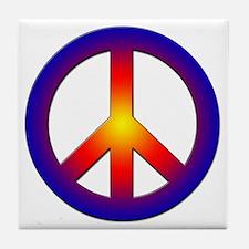 Cool Peace Sign Tile Coaster