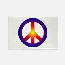 Cool Peace Sign Rectangle Magnet