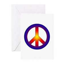 Cool Peace Sign Greeting Cards (Pk of 10)