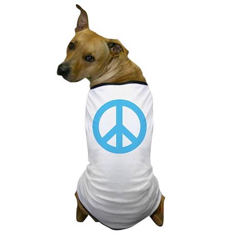 Blue Peace Sign Dog T-Shirt