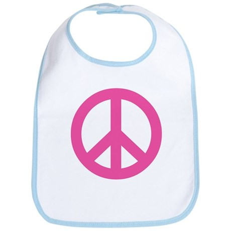 Hot Pink Peace Sign Bib