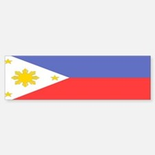 Philippines Flag Bumper Bumper Bumper Sticker