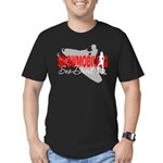 Snowmobiling Sno-Devil Men's Fitted T-Shirt (dark)