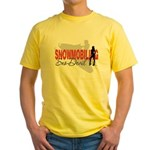 Snowmobiling Sno-Devil Yellow T-Shirt