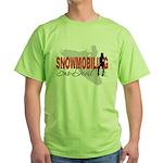 Snowmobiling Sno-Devil Green T-Shirt