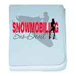 Snowmobiling Sno-Devil baby blanket
