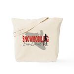 Snowmobiling Sno-Devil Tote Bag