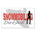 Snowmobiling Sno-Devil Sticker (Rectangle)