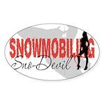 Snowmobiling Sno-Devil Sticker (Oval)