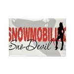 Snowmobiling Sno-Devil Rectangle Magnet