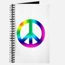 Rainbow Peace Sign Journal