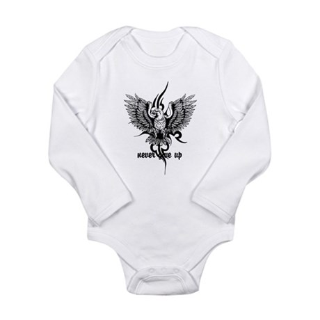 never give up Long Sleeve Infant Bodysuit