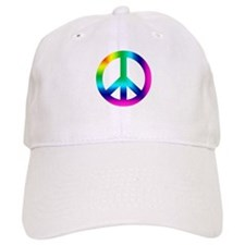 Rainbow Peace Sign Baseball Baseball Cap