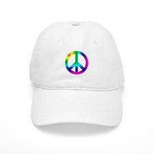 Rainbow Peace Sign Baseball Cap