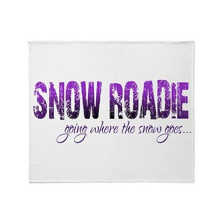 Snow Roadie Throw Blanket