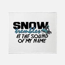 Snow Trembles Throw Blanket