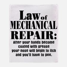 Law of Mechanical Repair: Throw Blanket