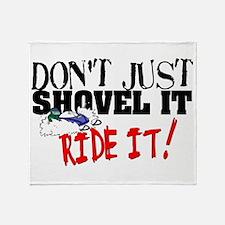 Don't Shovel It, Snowmobile Throw Blanket