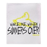 Wake Me When Summers Over Throw Blanket