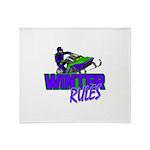 Winter Rules Throw Blanket