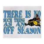 No Off Season Snowmobiling Throw Blanket