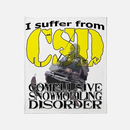 CSD Compulsive Snowmobile Disorder Throw Blanket