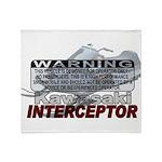 Interceptor Warning II Throw Blanket